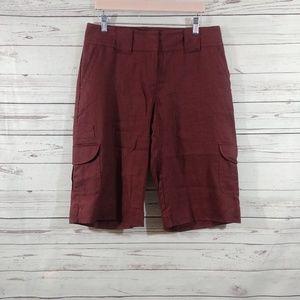 CAbi Linen Cargo Shorts sz 8